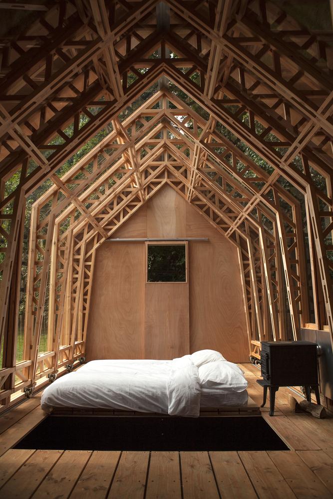 záhradný dom interiér
