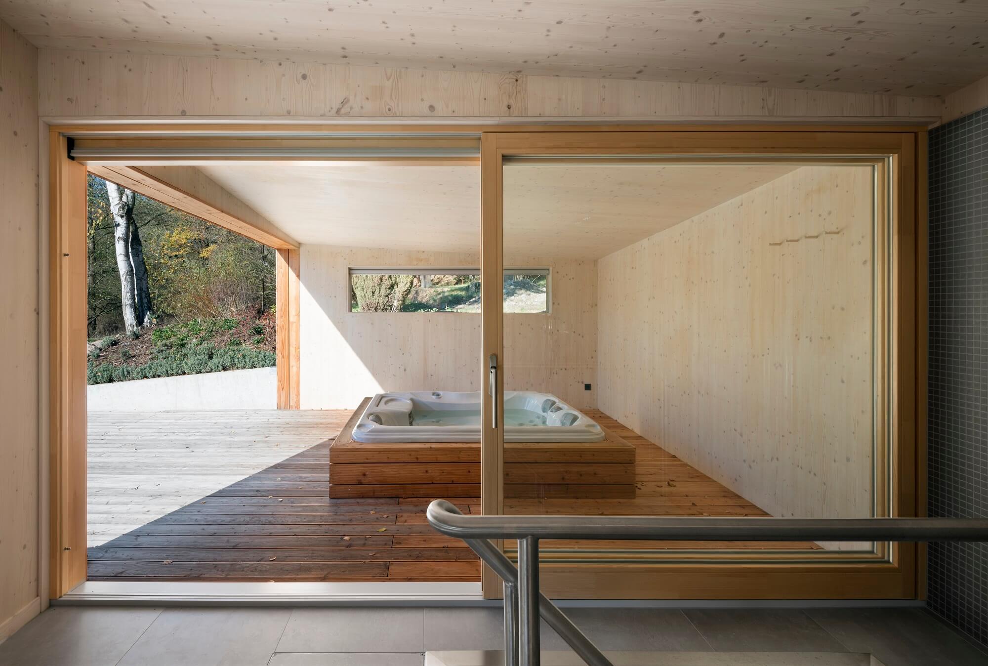 wellness domek interier