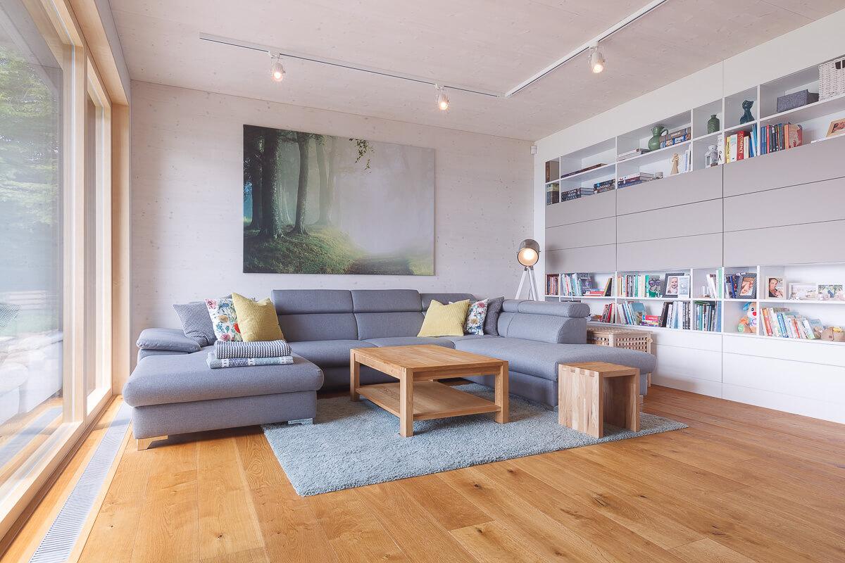 rodinný dom obývačka