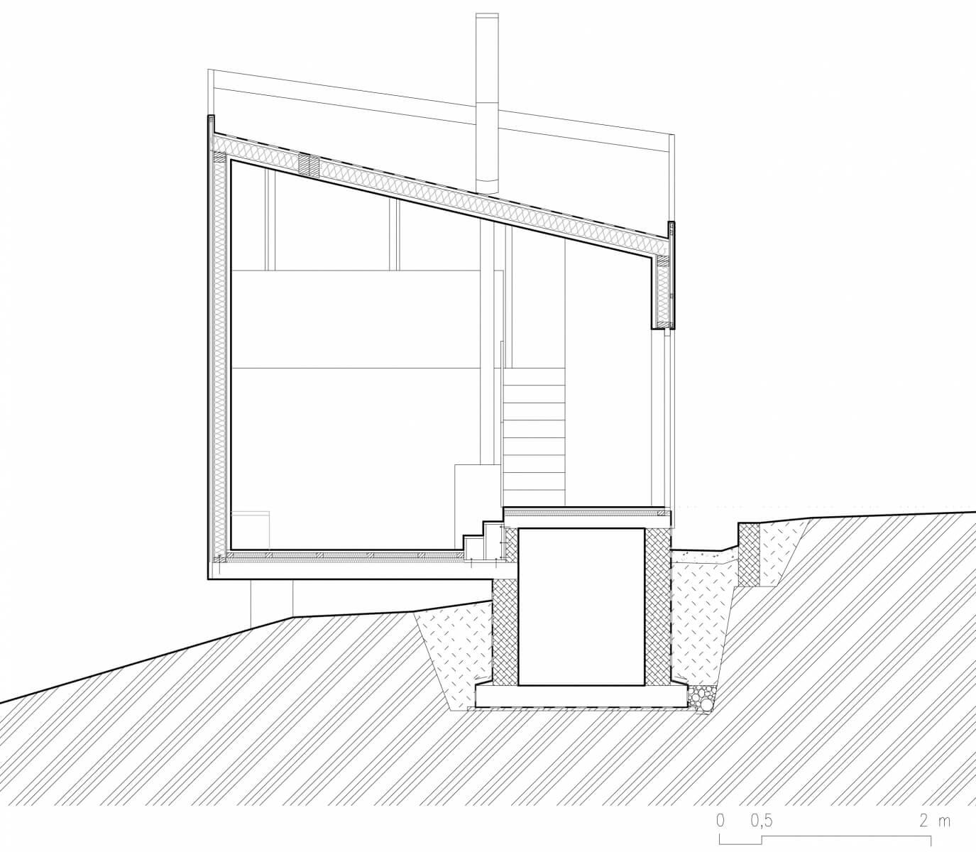chata v liptalu podorys